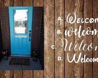 Welcome Front Door Decal