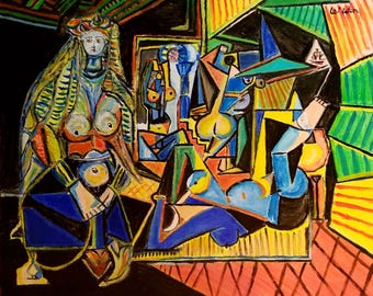 Les Femmes d'Alger - Picasso reproduction painting
