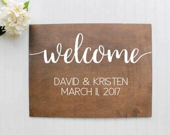 Welcome Wedding Sign| Wooden Wedding Welcome Sign| Rustic Wedding Decor| Farmhouse Wedding| Spring Wedding| Summer Wedding #2