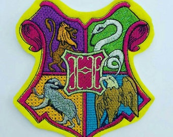 "5"" Hogwarts patch, Hogwarts applique, Harry Potter patch"