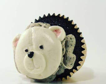 Fondant Teddy Bear Cupcake Topper