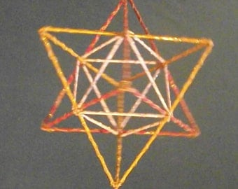 Wire Wrapped Tetrahedron/ Tantric Star