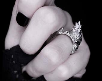 Howl   Ring in Silver ~ Werewolf Howling Ring by Trickery   SALE ON NOW!