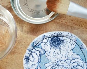 Reusable cleansing pad - blue Romance