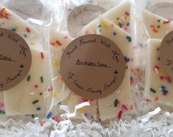 Birthday Cake wax brittle, wax melts, wax tarts, vanilla, gift for her, candle melts, wickless candles, soy wax melts, wax melts, brittle