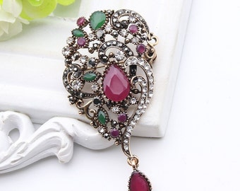 Turkish vintage brooch and Pendant Two in one