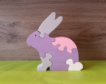 Wooden puzzle Bunny toy