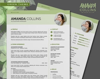 Modern Resume Template Instant Download /CV Template Word, 3 Page CV/Curriculum Vitae + Cover Letter design in 3 Color Themes, Easy-To-Edit
