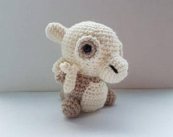 Cubone with bone Amigurumi/crochet (Cream or grey) | plush | Pokemon inspired | gifts for him | gifts for her | birthday [Made to order]