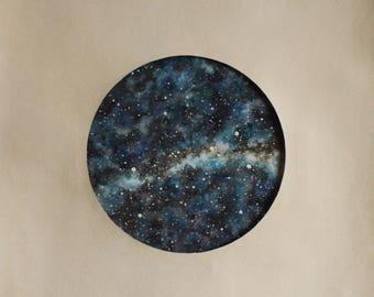 ORIGINAL WATERCOLOR Fine Art Star Chart Painting, Night Sky, Stars