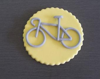 6 x Bike Cupcake Toppers, Bike decorations, edible bikes, bike cupcakes, bike, cycling