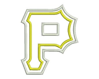 6 sizes - Pittsburgh Pirates Embroidery Design, Pittsburgh Pirates Applique Design, Baseball Embroidery Design, Instant Download
