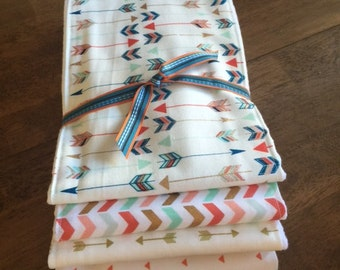 Set of 4 Burp Cloths