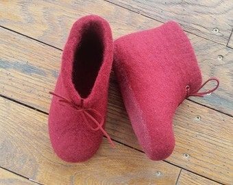 Warm felt slippers, boots, winter boots for children, slippers, ugg boots, felt slippers, warm handmade slippers, kids felt slippers