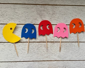 Pacman Inspired Cupcake Toppers