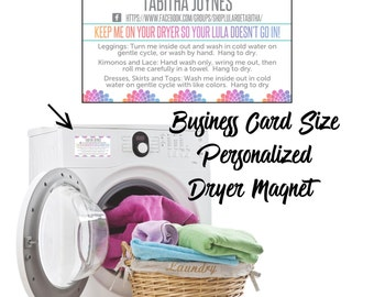 3.5 x 2 Care Instructions Dryer Magnet Design sure to set your business apart from the rest! **DIGITAL FILE ONLY**