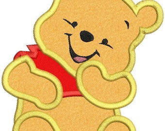 Winnie the Pooh Applique Embroidery Design