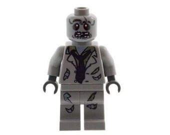 Custom Designed Minifigure - Zombie Monster A (Horror - Halloween) Printed On LEGO Parts