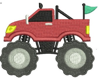 Monster Truck EMBROIDERY Design Race Car Fill Design Machine Embroidery Instant Download ER759F