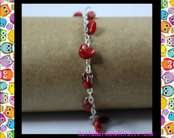 Red Jasper Bracelet, Gemstone