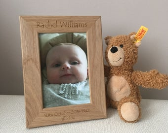 Personalised New Baby Photo Frame, Baby Photo Frame, New Baby Gift, Christening gift, Personalised Photo frame, newborn gift
