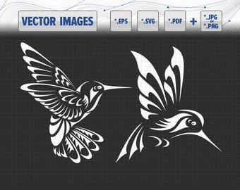 Hummingbirds vector graphic svg, dxf, eps, pdf and png for instant download