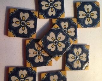 Nine (9) Vintage Mexican Tiles