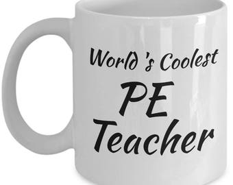 PE Teacher Mug Gifts - Teacher Appreciation Gift Men Women Coworkers - Mugs Best Gifts for Retired PE Teachers - End of Year Gift, Christmas