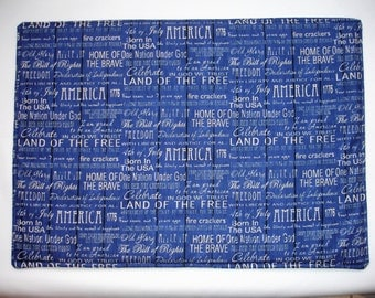 Proud to be American Placemats                Set of 4 or 6