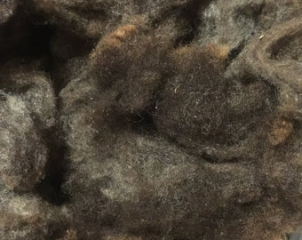 Washed black CVM fleece
