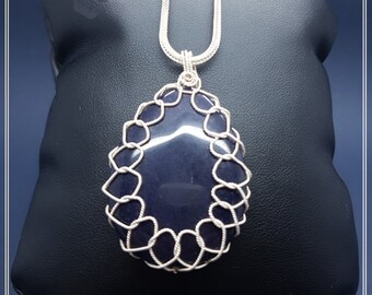 Silver Water Drop with Star Stone Necklace