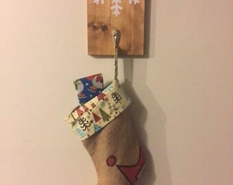 Christmas Stocking Holder / Hanging Stocking Holder / Coat Hanger