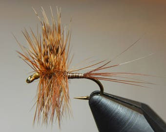 Three (3) Quill Mayflies, size 14-18 (Green,Yellow,or Brown), for fly fishing