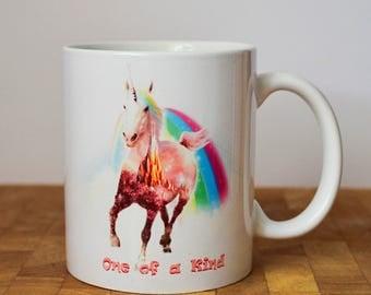 Unicorn Mug, Beautiful fantasy mug, personalized, 11oz