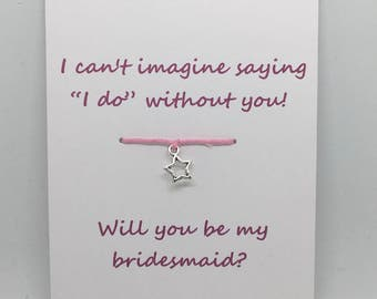 SALE Personalised bridesmaid - Will you be my bridesmaid gift - bridesmaid question - bridesmaid gift - bridesmaid bracelet