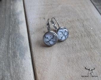 Stainless steel - earrings - large flowers, flower, Stainless steel, nature, spring, summer, Lou Woods