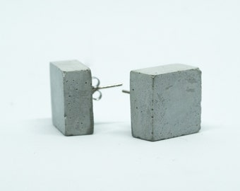 Earring cube, cement