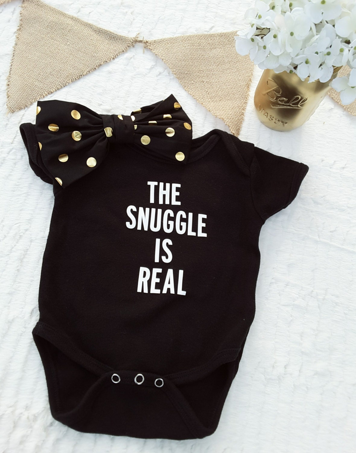 The Snuggle is Real esie Baby Clothes Uni Baby esie