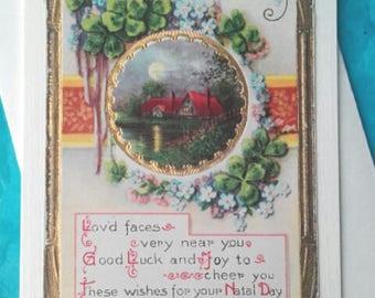 Vintage Birthday Greetings Card