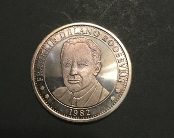 Franklin Roosevelt One Troy Ounce Silver 1982