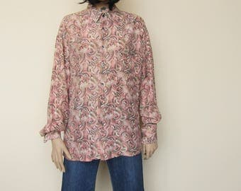 Silk Crazy Print Shirt - Oversized