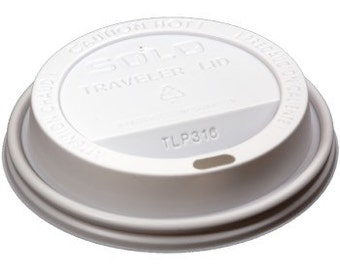 Lids for Disposable Coffee Cups, fits 12, 16 and 20 ounce cups (Add-on listing)