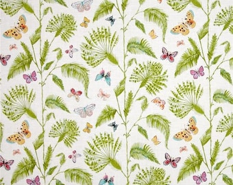 Butterfly Palm White from Dena Designs Butterfly Garden Fabric by the Yard