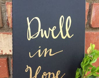 Dwell in Hope Hand-Lettered Journal
