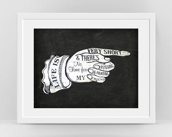 Pointing Hand Sign, Pointing Finger Print, Finger Sign Retro Poster, Cool Wall Art, Life Is Very Short, Best Life Quotes, Word Art, Teen Art