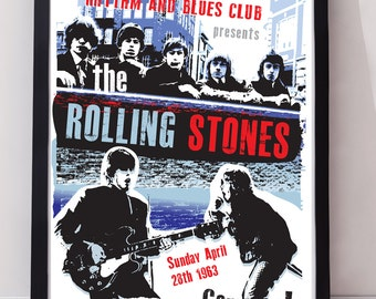 The Rolling Stones music poster. Wall decor art print. Unframed