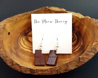 Chocolate Bar Earrings
