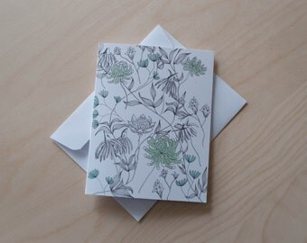 Floral Tangle Illustrated Greeting Card