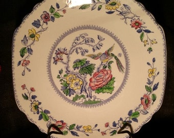 Vintage Enoch Wedgwood Davenport Square China Cake Plate