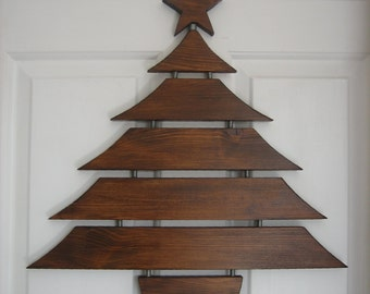 Handmade traditional wooden bespoke christmas tree